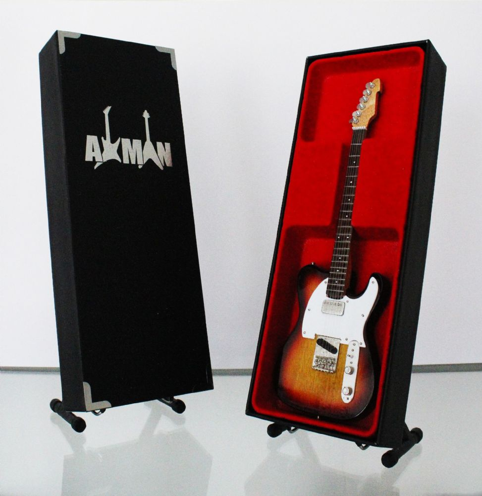 (Rolling Stones) Ronnie Wood: Telecaster - Miniature Guitar Replica (UK Seller)